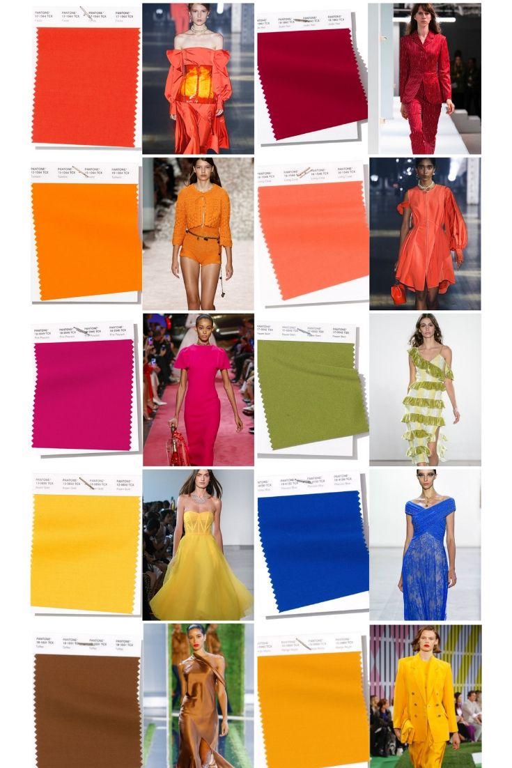 Мода на цвета весна / лето 2019