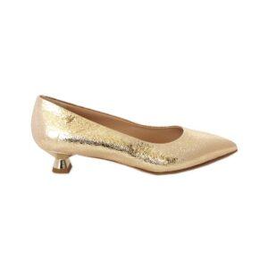 Золотистые туфли на маленьком каблуке Marino Fabiani