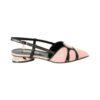 Кожаные туфли с открытой пяткой Marino Fabiani розового цвета