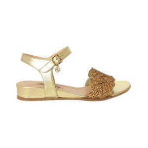 золотые сандалии без каблука Marino Fabiani