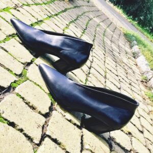 Чёрные кожаные ботильоны Halmanera Juny новая коллекция осень-зима
