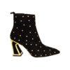 Kat Maconie замшевые чёрные ботинки на каблуке
