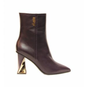 Marino Fabiani фиолетовые ботинки на высоком каблуке артикул 6400