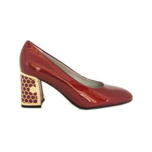 Красные лаковые итальянские туфли Marino Fabiani