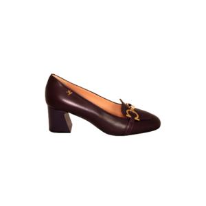 Фиолетовые кожаные туфли Marino Fabiani артикул 2147